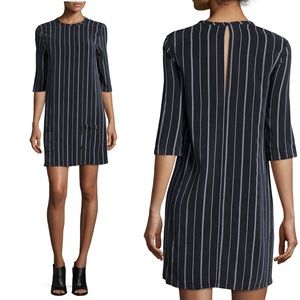 Equipment Pinstripe silk dress